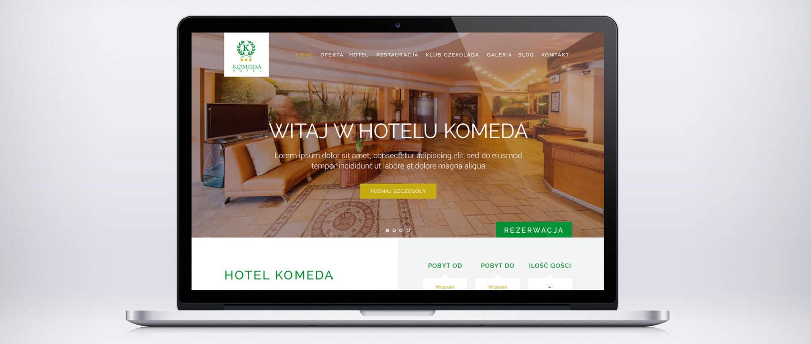 Nowa strona internetowa Hotelu Komeda